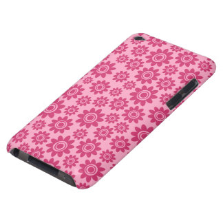 Pink whimsical flower pattern iPod touch case