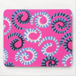Pink Whirl Mouse Pad
