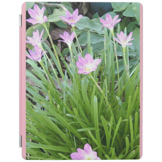 PINK WHITE AND YELLOW FLOWERS iPad COVER