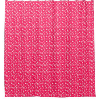pink white bathroom shower curtain