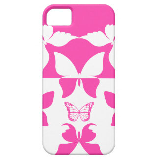 Pink & White Butterfly Pattern 1 iPhone 5 Case