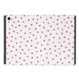 Pink White Confetti Dots Pattern Case For iPad Mini