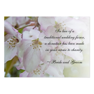 Pink White Crab Apple Blossom Wedding Charity Card Pack Of Chubby Business Cards