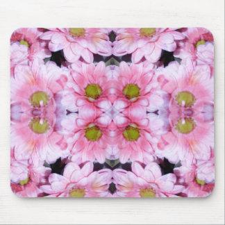 Pink & White Daisies Mousepad