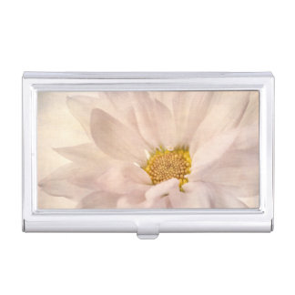 Pink White Daisy Flower Daisies Flowers Floral Business Card Holder