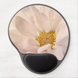 Pink White Daisy Flower Daisies Flowers Floral Gel Mouse Pad