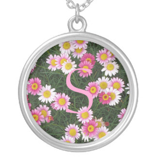 Pink White Daisy Flowers Necklace