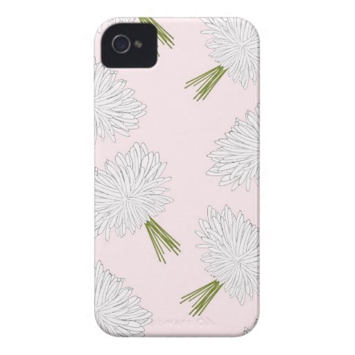 Pink White Floral Pattern Blackberry Case-Mate
