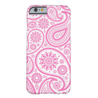 Pink White Floral Pattern Barely There iPhone 6 Case
