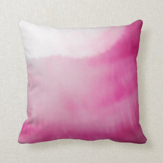 Pink & White Fluid Colours Modern Watercolors Cushion