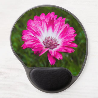 Pink & White Gerbera Daisy in Bloom Gel Mouse Pad