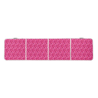 Pink White Glitter Modern Folding Party Table Pong Table