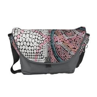 Pink White Grey Bubble Tiled Mosaic Abstract Commuter Bag