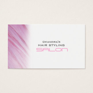 Pink White Hair Salon Appointment Business Card