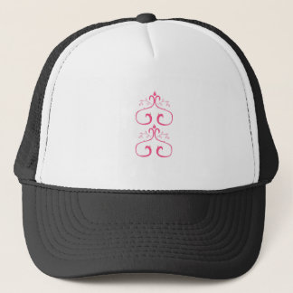 Pink white ornaments trucker hat