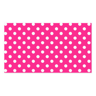 Pink & White Polka Dot Double-Sided Standard Business Cards (Pack Of 100)