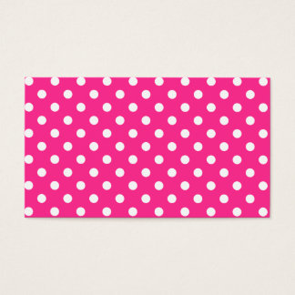 Pink & White Polka Dot Business Card