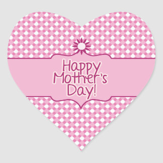 Pink white Polka dot Flower Mothers Day sticker