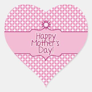 Pink white Polka dot Flower Mothers Day sticker