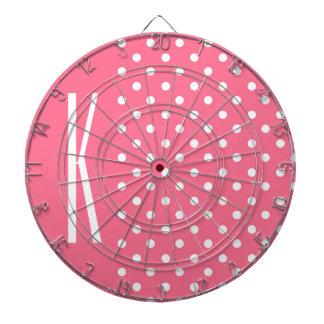 Pink & White Polka Dots Dartboard