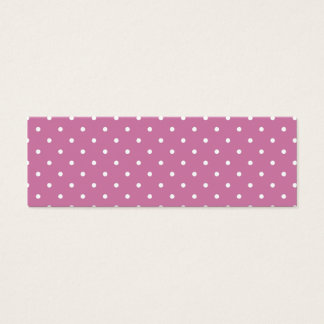 Pink White Polka Dots Mini Business Card