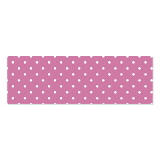 Pink White Polka Dots Pack Of Skinny Business Cards