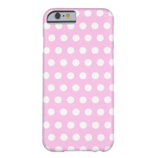 Pink White Polka Dots Pattern Barely There iPhone 6 Case