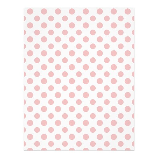 Pink White Polka Dots Pattern Custom Flyer