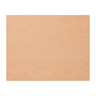 Pink & White Polka Dots Wood Canvas