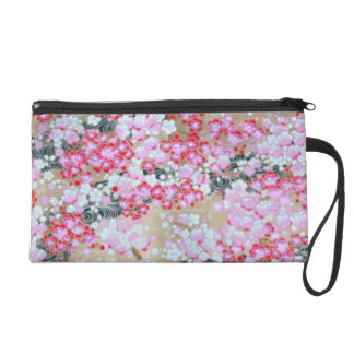 Pink, White & Red Flowers Wristlet Clutches