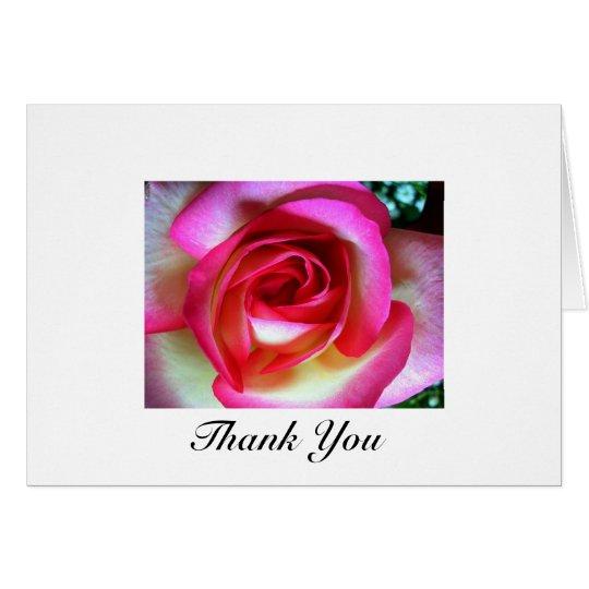 Pink & White Rose Card