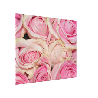 Pink White Roses Canvas Print