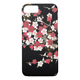 Pink & White Sakura Vintage Japanese Flower iPhone 8/7 Case