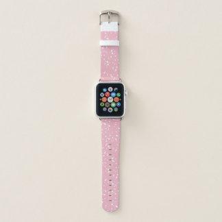 Pink & White Splatter Pattern Apple Watch Band