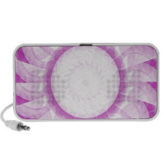 Pink White Swirl Doodle iPod Speakers