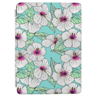 Pink & White Tropical Hibiscus Floral Pattern