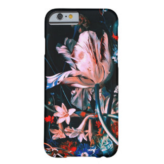 PINK WHITE TULIPS COLORFUL FLOWERS IN BLACK Floral Barely There iPhone 6 Case