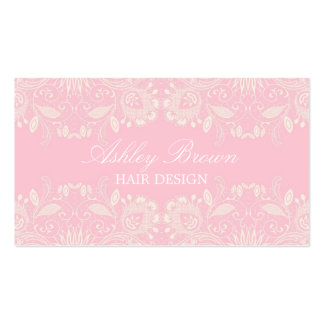 Pink & White Vintage Lace Business Card
