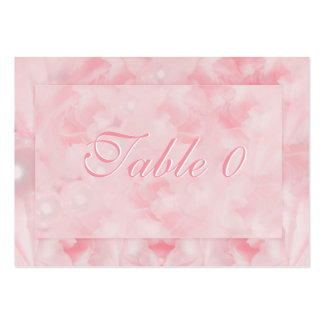 Pink white wedding engagement anniversary business cards