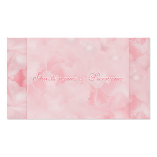 Pink white wedding engagement anniversary business card templates