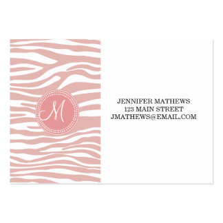 Pink & White Zebra Pattern Pack Of Chubby Business Cards