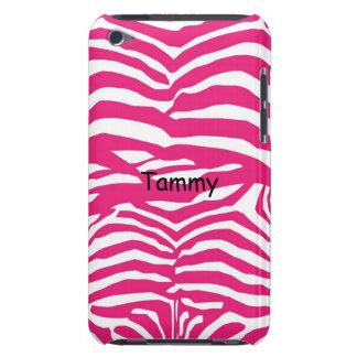 Pink & White Zebra Print iPod Touch Cover