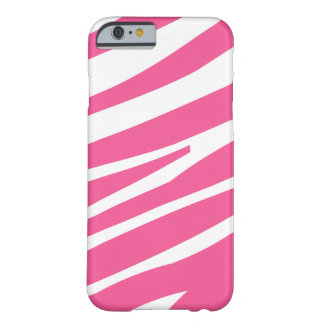 Pink white zebra stripe fun stylish iPhone 6 case Barely There iPhone 6 Case