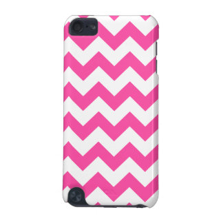 Pink White Zigzag Chevron Pattern Girly iPod Touch (5th Generation) Cover