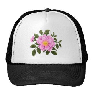 Pink Wild Rose Mesh Hat