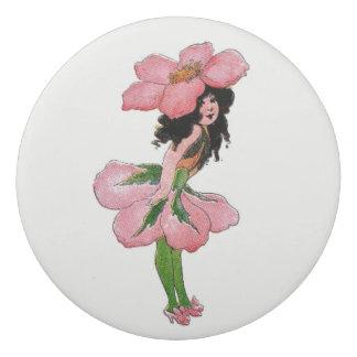 Pink Wild Rose Vintage Cute Flower Girl Floral Eraser