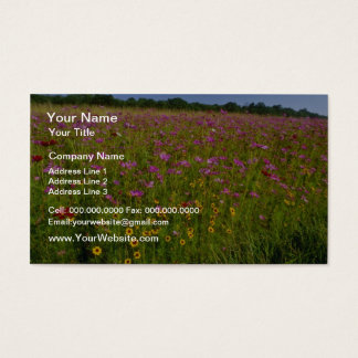 Pink Wildflowers, central Virginia flowers Business Card