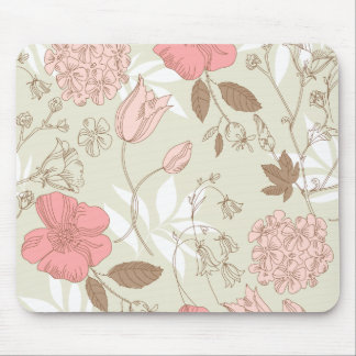 Pink Wildflowers Mouse Pad