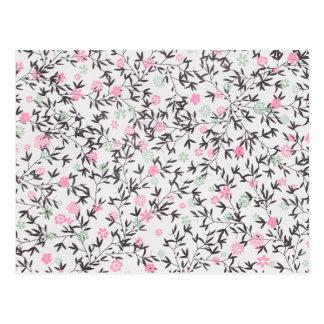 pink wildflowers postcard