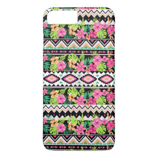 Pink Wildflowers Tribal Pattern iPhone 8 Plus/7 Plus Case